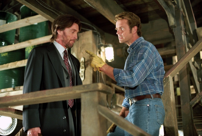 John Glover and John Schneider in Smallville (2001)