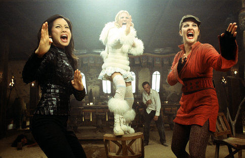 Drew Barrymore, Cameron Diaz, and Lucy Liu in Charlie's Angels: Full Throttle (2003)