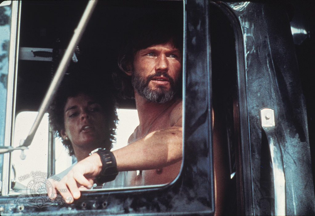 Kris Kristofferson and Ali MacGraw in Convoy (1978)