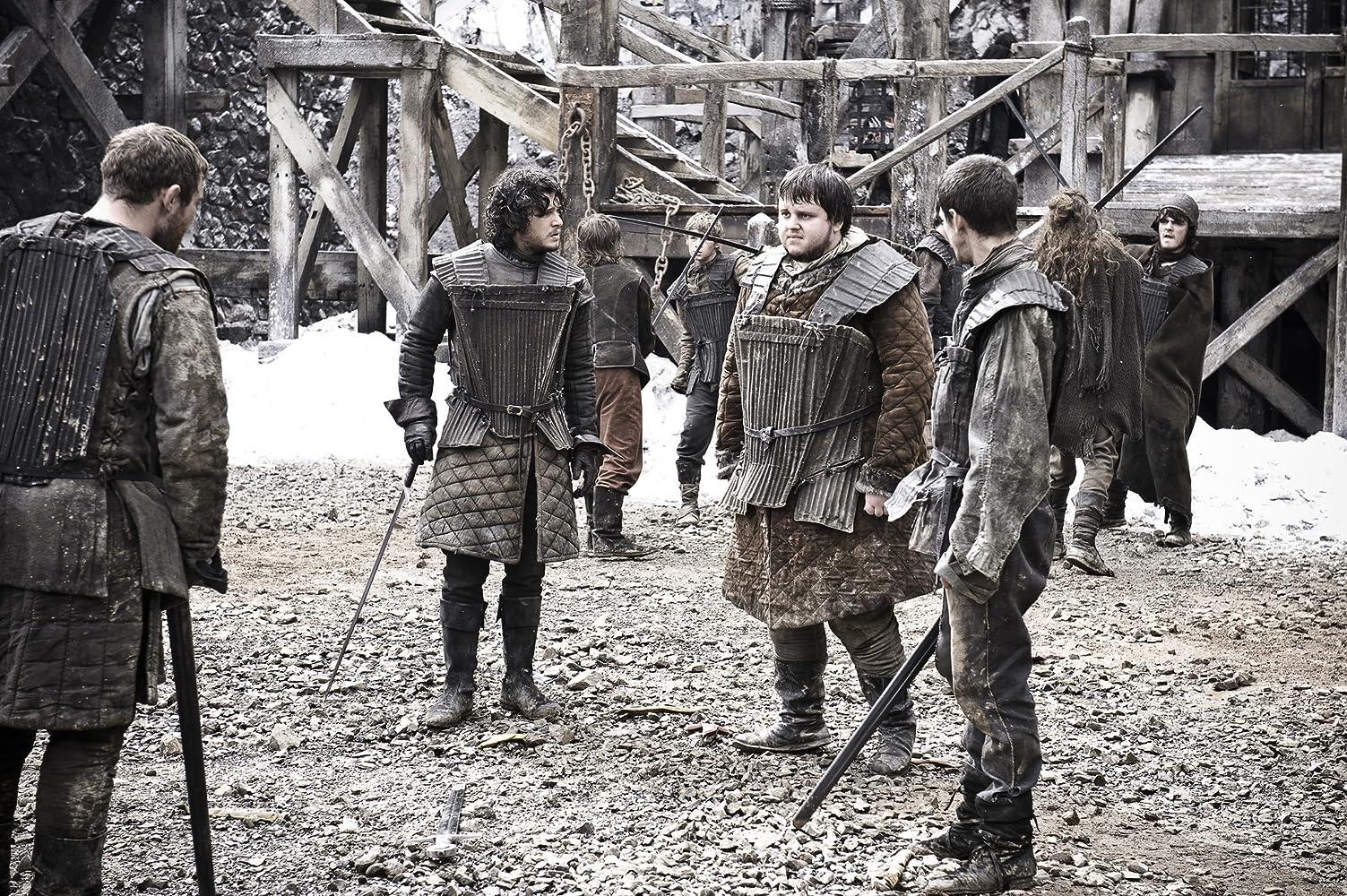 Josef Altin, Kit Harington, John Bradley, and Mark Stanley in Game of Thrones (2011)