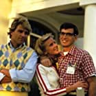 Robert Carradine, Ted McGinley, and Julia Montgomery in Revenge of the Nerds (1984)