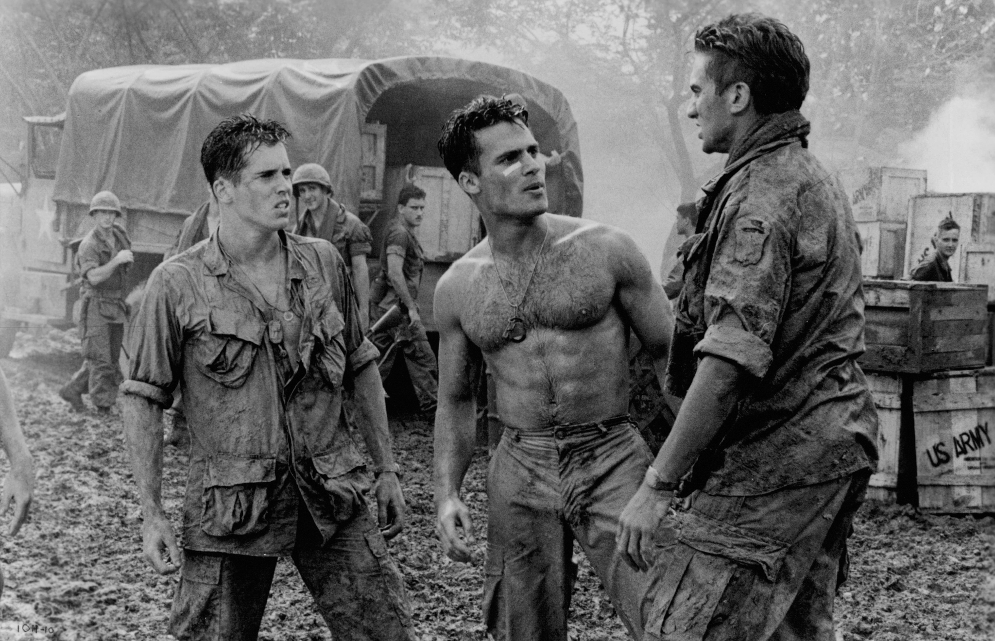 Anthony Barrile, Michael A. Nickles, and Tim Quill in Hamburger Hill (1987)