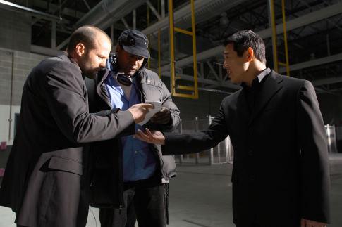 Jet Li, Jason Statham, and Philip G. Atwell in War (2007)