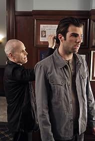 Zeljko Ivanek and Zachary Quinto in Heroes (2006)