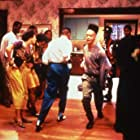 Tisha Campbell, A.J. Johnson, Christopher Martin, Daryl Mitchell, Christopher Reid, and Ronn Riser in House Party (1990)