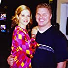 """Adam Vernier with Jenna Elfman on the set of """"Dharma & Greg"""".  Adam played """"Justin"""" in the episode """"DO THE HUSTLE."""""""