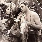 Claudette Colbert and William Gargan in Four Frightened People (1934)