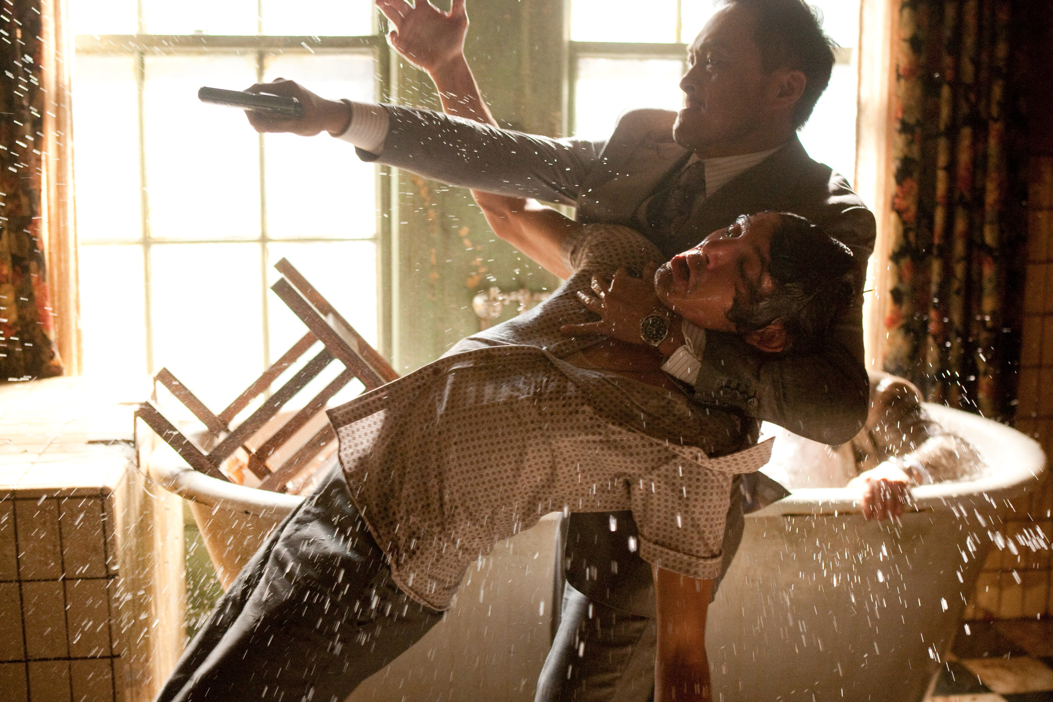 Lukas Haas and Ken Watanabe in Inception (2010)