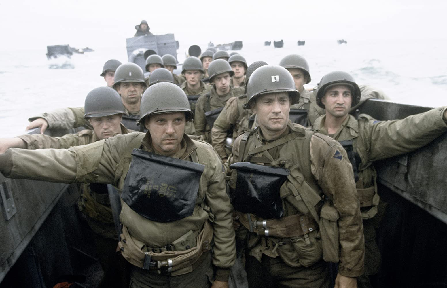 Tom Hanks, Tom Sizemore, Paschal Friel, Rolf Saxon, and Adam Shaw in Saving Private Ryan (1998)