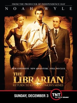 Gabrielle Anwar, Noah Wyle, and Bob Newhart in The Librarian: Return to King Solomon's Mines (2006)