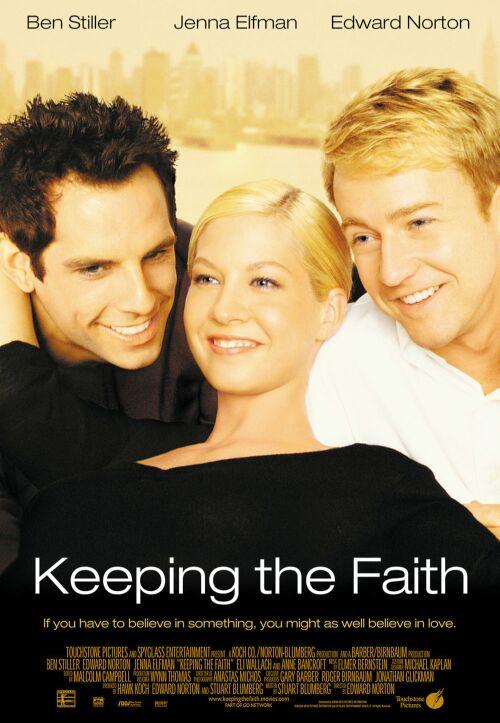 Jenna Elfman, Edward Norton, and Ben Stiller in Keeping the Faith (2000)