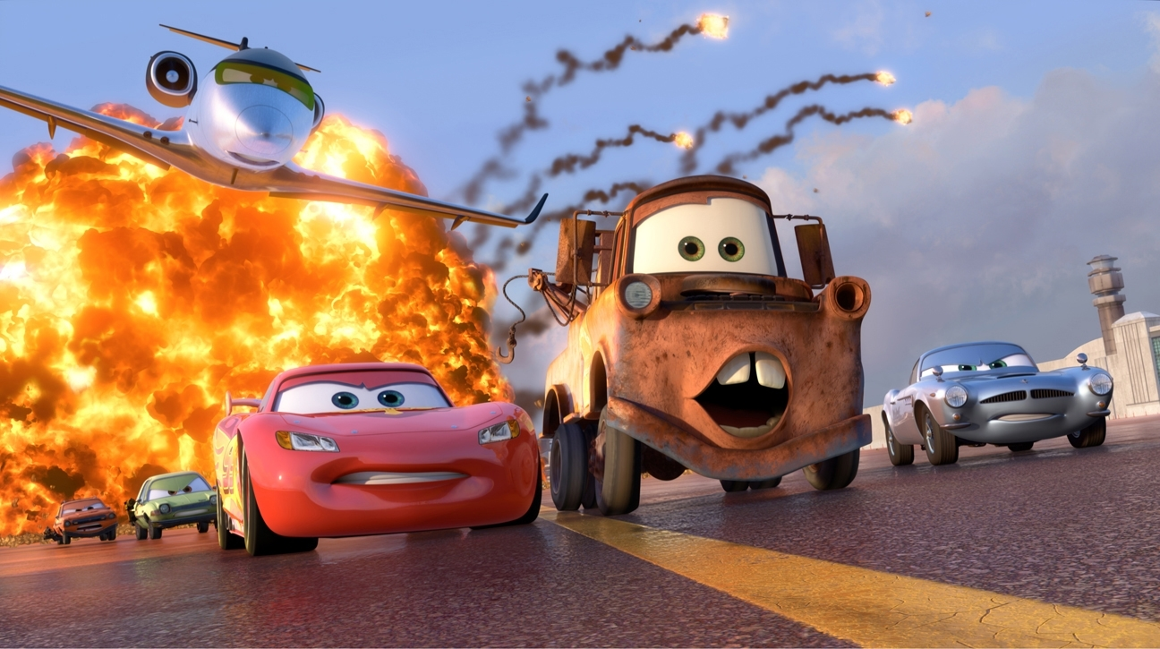 Michael Caine, Joe Mantegna, Jason Isaacs, Owen Wilson, Peter Jacobson, and Larry the Cable Guy in Cars 2 (2011)