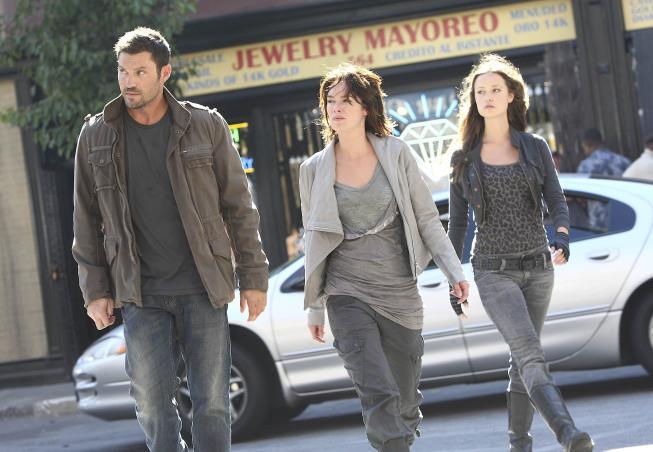 Brian Austin Green, Lena Headey, and Summer Glau in Terminator: The Sarah Connor Chronicles (2008)