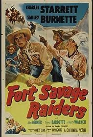 Trevor Bardette, Smiley Burnette, John Dehner, and Charles Starrett in Fort Savage Raiders (1951)