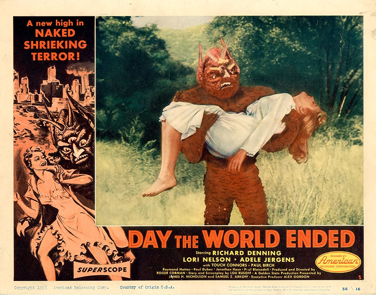 Paul Blaisdell and Lori Nelson in Day the World Ended (1955)