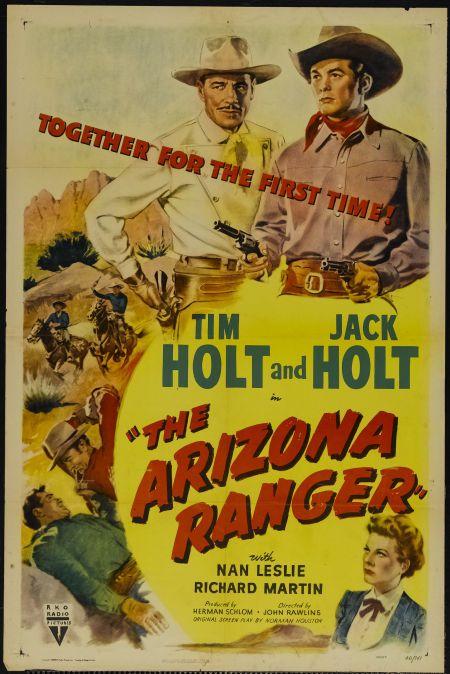 Jack Holt, Tim Holt, and Nan Leslie in The Arizona Ranger (1948)