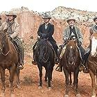 Russell Crowe, Christian Bale, Peter Fonda, Alan Tudyk, and Dallas Roberts in 3:10 to Yuma (2007)