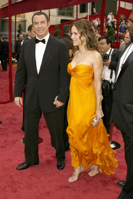 John Travolta and Kelly Preston at an event for The 80th Annual Academy Awards (2008)