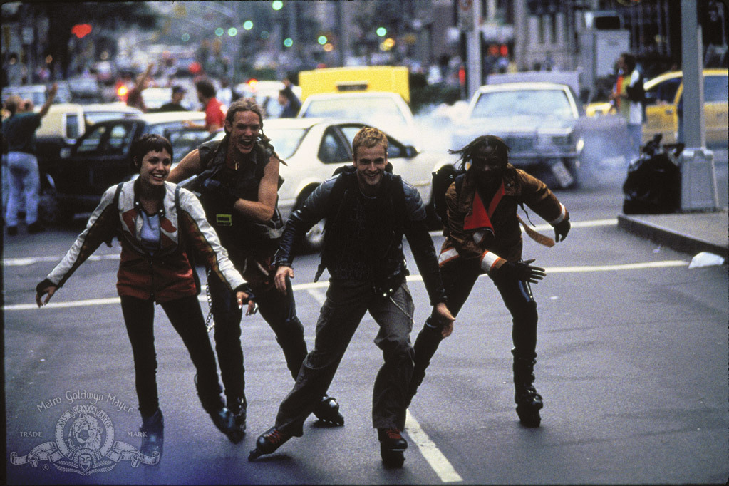 Matthew Lillard, Angelina Jolie, Jonny Lee Miller, and Laurence Mason in Hackers (1995)