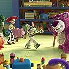Tom Hanks, Joan Cusack, Tim Allen, Ned Beatty, John Ratzenberger, Wallace Shawn, Jack Angel, Blake Clark, John Cygan, Jan Rabson, Estelle Harris, and Don Rickles in Toy Story 3 (2010)