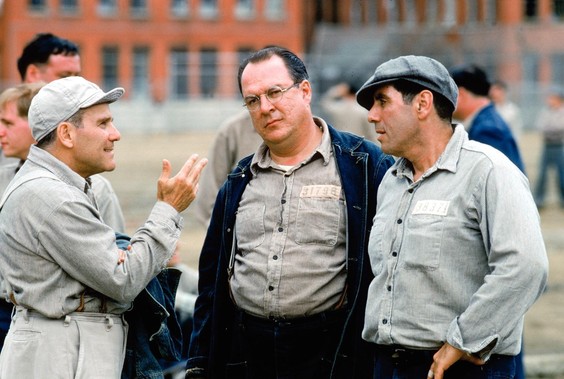 Larry Brandenburg, David Proval, and Joseph Ragno in The Shawshank Redemption (1994)