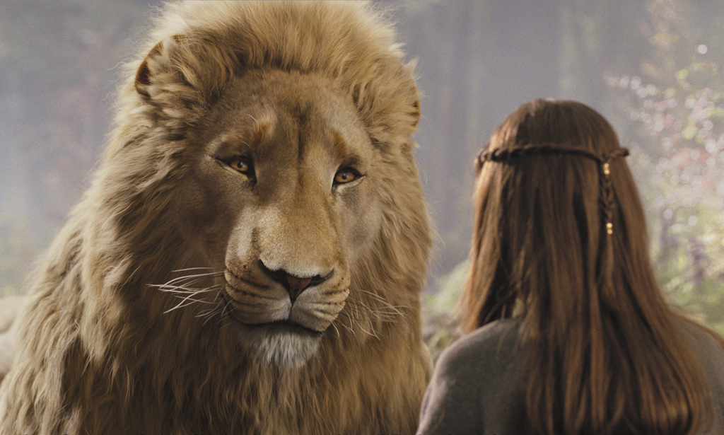 Liam Neeson and Georgie Henley in The Chronicles of Narnia: Prince Caspian (2008)