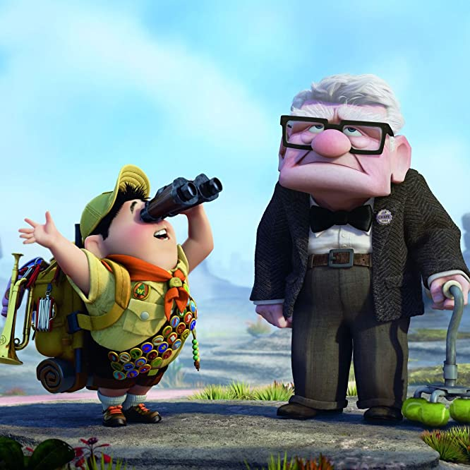 Edward Asner and Jordan Nagai in Up (2009)