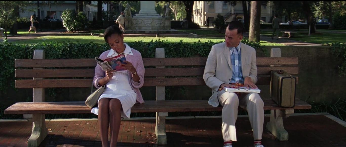 Tom Hanks and Rebecca Williams in Forrest Gump (1994)