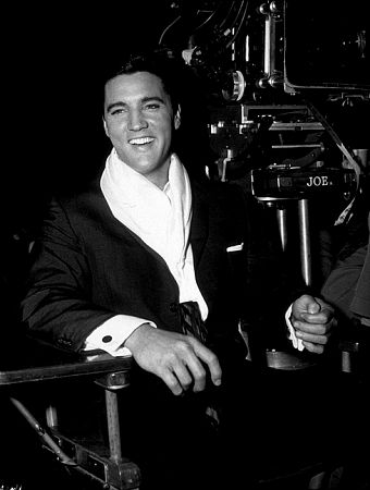 "Elvis Presley on the set of ""It Happened at the World's Fair,"" MGM, 1962."
