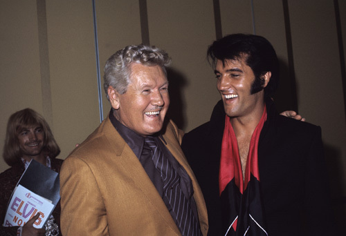 Elvis Presley with his father Vernon