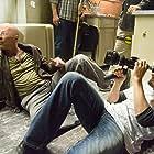 Bruce Willis and Len Wiseman in Live Free or Die Hard (2007)