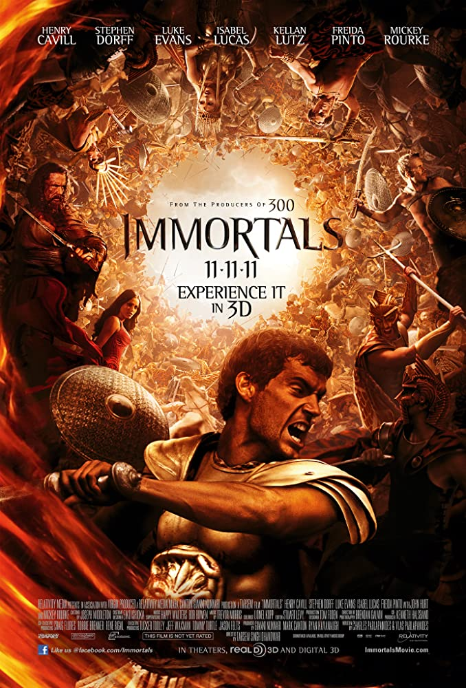 Immortals 2011 Hindi ORG Dual Audio 400MB BluRay ESubs
