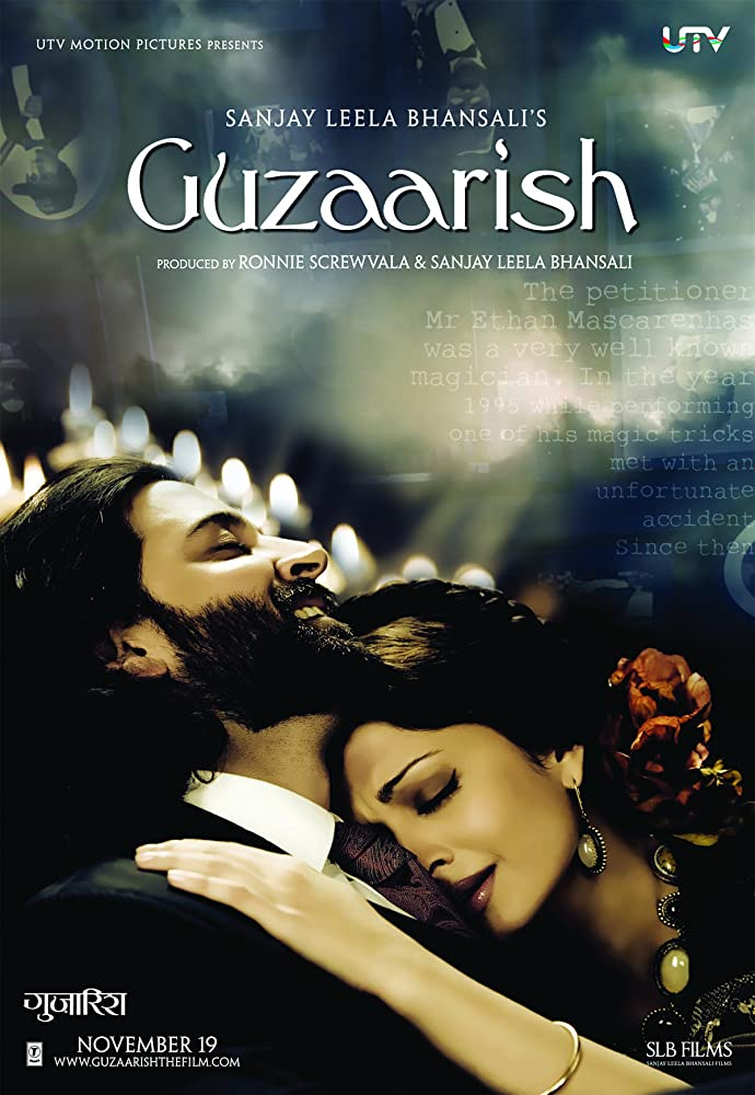 Guzaarish 2010 Hindi 720p BluRay 1.1GB ESubs Download