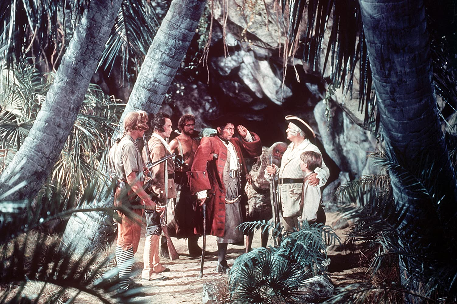 Andrew Blackett Walter Fitzgerald Robert Newton Denis ODea and Geoffrey Wilkinson in Treasure Island 1950