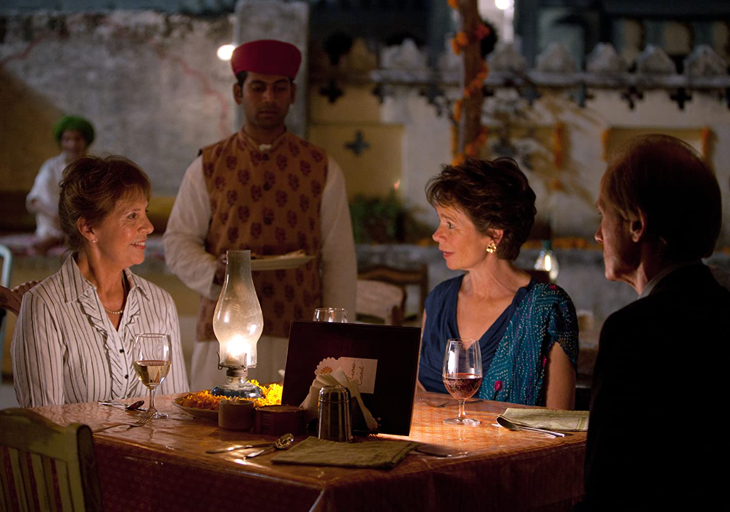 Celia Imrie, Bill Nighy, and Penelope Wilton in The Best Exotic Marigold Hotel (2011)