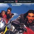Abhishek Bachchan, Uday Chopra, and John Abraham in Dhoom (2004)