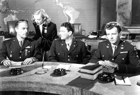 Brian Donlevy, Audrey Totter, Robert Walker, and William Wright in The Beginning or the End (1947)