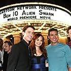 Ryan Kelley, Mario Lopez, Nathan Keyes, and Galadriel Stineman at an event for Ben 10: Alien Swarm (2009)