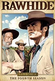 Clint Eastwood, Paul Brinegar, and Sheb Wooley in Rawhide (1959)