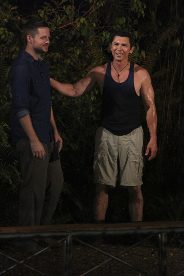 Lou Diamond Phillips and Damien Fahey in I'm a Celebrity, Get Me Out of Here! (2003)