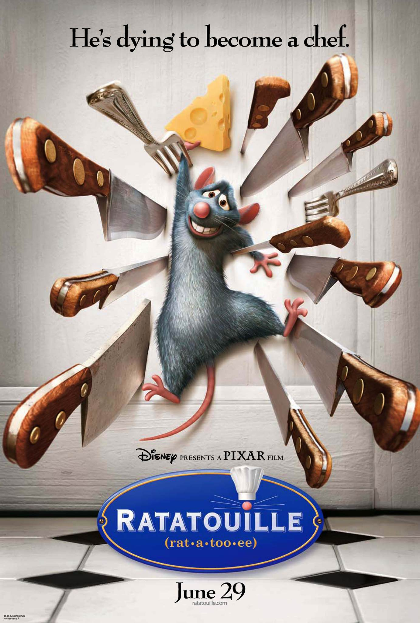 Ratatouille (2007) BluRay 480p, 720p & 1080p