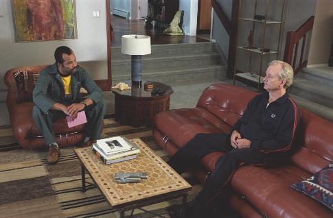Bill Murray and Jeffrey Wright in Broken Flowers (2005)