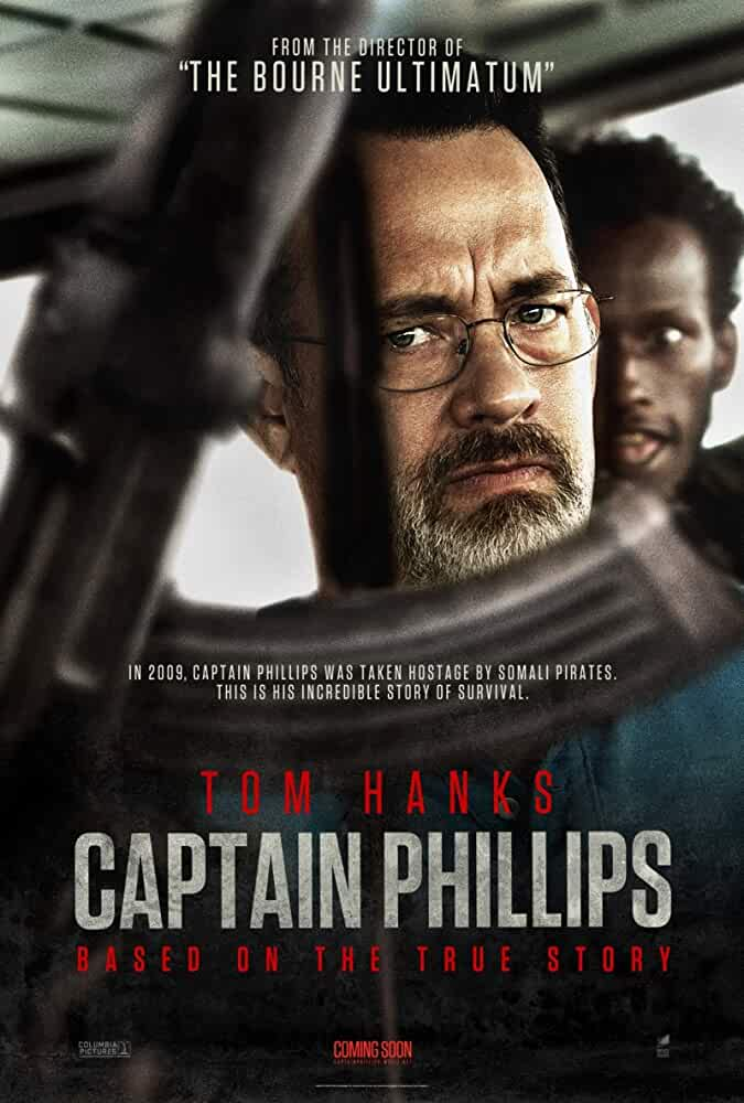 Tom Hanks and Barkhad Abdi in Captain Phillips (2013)