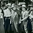 Tom London, Rufe Davis, Robert Frazer, June Johnson, Robert Livingston, and Bob Steele in Pals of the Pecos (1941)