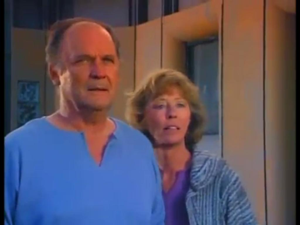 John Vernon and Sheila Moore in The Ray Bradbury Theater (1985)