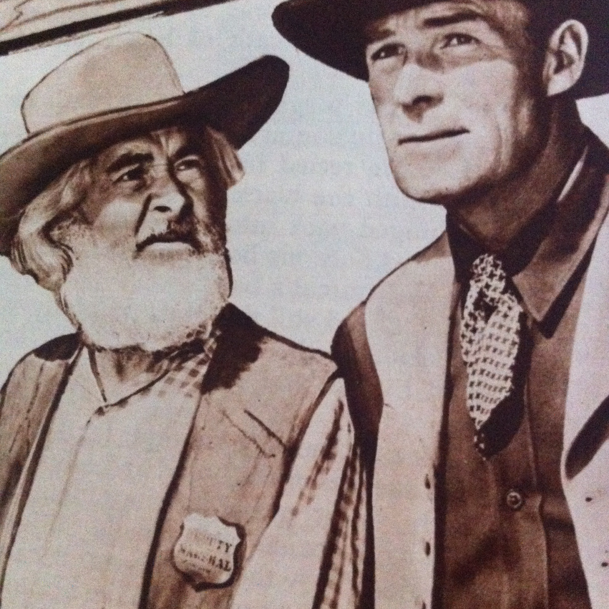 Randolph Scott and George 'Gabby' Hayes in Trail Street (1947)