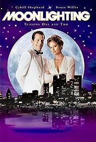 Bruce Willis and Cybill Shepherd in Moonlighting (1985)