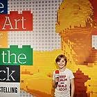 Danny Jongejan in Voor het blok bij 'The Art of The Brick' (2021)