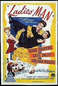 Spike Jones, Eddie Bracken, Cass Daley, and Virginia Welles in Ladies' Man (1947)