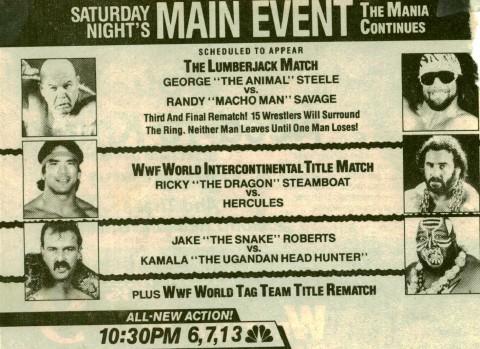 Saturday Nights Main Event Tv Series 19851992 Imdb